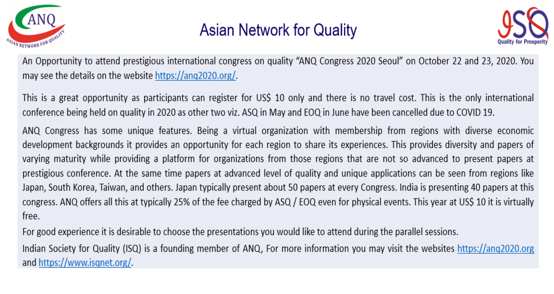 Asian Network For Quality